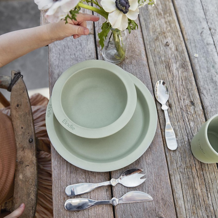 Baby servies Mineral Green