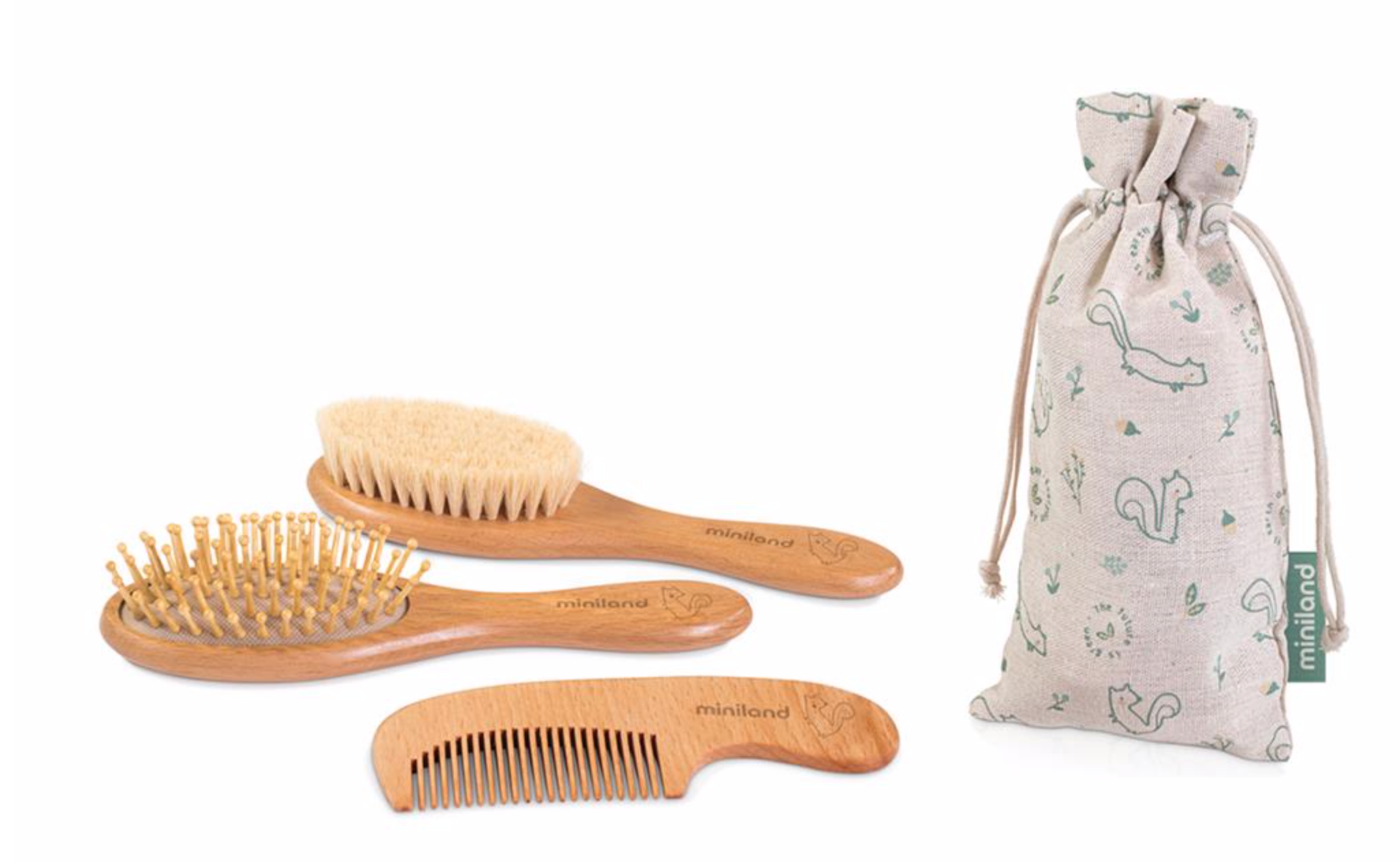 Hair brush set squirrel
