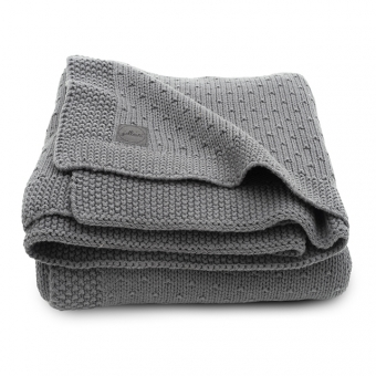 blanket knit 75 x 100 cm grey