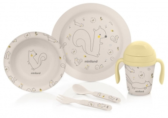 Bamboo dining set squirrel