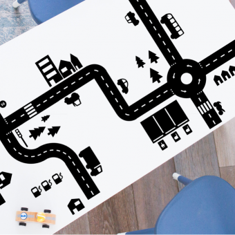 Sticky Roads speelstickers voordeelset (zwart of wit)
