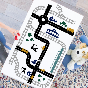 XL voordeelpakket Sticky Roads & Rails speelstickers