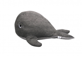 Whale teddy 60 cm Grey/Brown