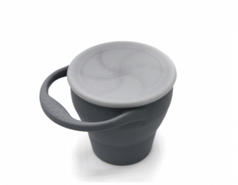 silicone snack cup storm grey